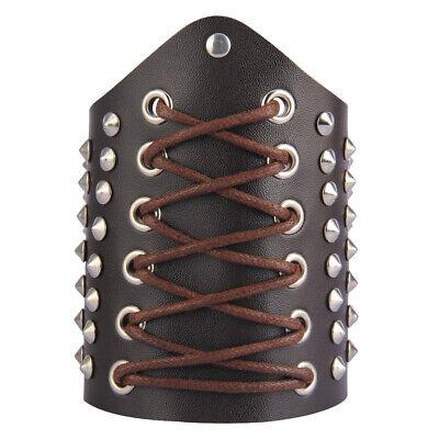 Armschützer Lederhandschuh Handgelenkschutz Mittelalter Armschienen Braun