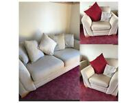 Immaculate 3 seater sofa and 2 armchairs