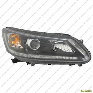 Head Light Passenger Side Sedan Halogen Ex/Lx/Sport Models/2.4 Liter Ex-L High Quality Honda Accord 2013-2015