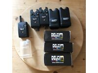 2x Delkim txi plus blue and rx plus pro- Bite Alarms - fishing Alarms