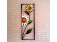Flower Metal Wall Decoration - £15 - Can deliver for fee to North Tyneside - Seaton Delaval Pickup