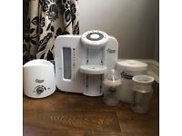 Tommee Tippee perfect prep machine including bottle warming, steriliser and bottles