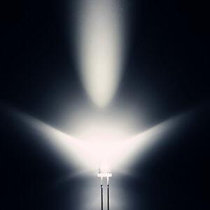 500 Stk. LEDs 5mm Rund Superhelle 20000mcd weiße LED Leuchtdioden Diode