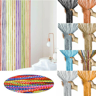 Beaded Door Curtains (String Tassel Door Curtain Beads Room Divider Crystal Fringe Beaded Window)