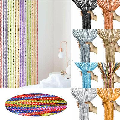 String Tassel Door Curtain Beads Room Divider Crystal Fringe Beaded Window Panel](Door Curtains Beaded)