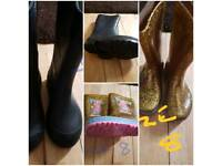 wellies size 13 & 8