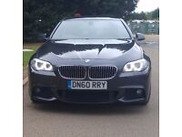 "BMW 520D M Sport HUGE SPEC 2010/60'Reg FSH DVD Xenon Sat Nav 19"" Alloys Grey Manual F10 MSport"