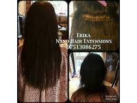 Romford Remy Nano Hair Extensions Russians and European Natural hair