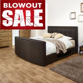 *SPECIAL OFFER*COME AND VIEW IT ,TRY IT THEN BUY IT* BRAND NEW DOUBLE OTTOMAN/GASLIFT STORAGE TV BED