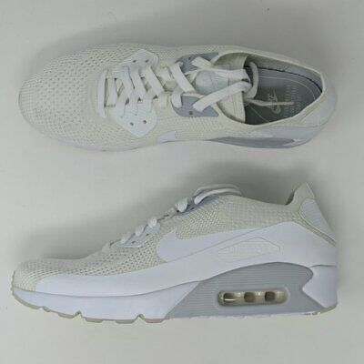 Nike Air Max 90 Ultra 2.0 Flyknit Size 13 White Platinum Mens Shoe (Nike Air Max 90 Mens Size 13)
