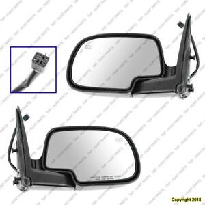 Door Mirror Power Driver Side Heated Man Fold Without Puddle Lamp Ptm Chevrolet Avalanche 2002
