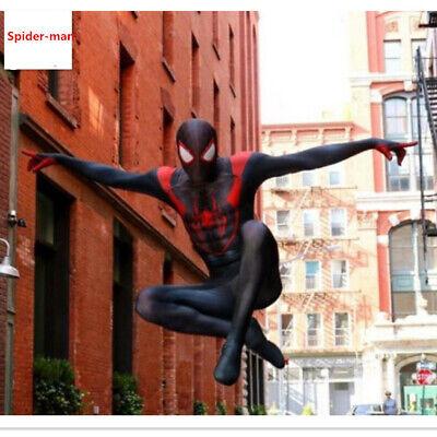 Spiderman Ultimate Miles Morales Superhero Zentai Halloween Costume Full - Ultimate Spiderman Miles Morales Kostüm