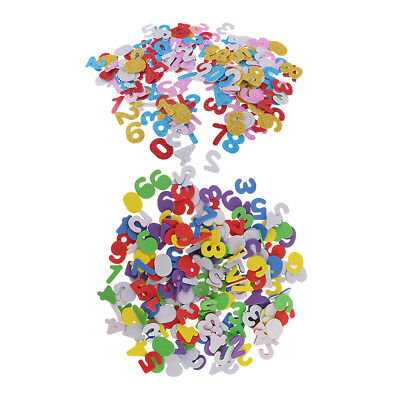 350x Multi Colors Number Foam Stickers 0-9 for Kids Art, Craft and -
