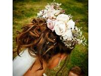 Bespoke bridal flower hair piece