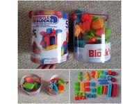 Bristle blocks - 1 new unopened, 1 open - sell as bundle