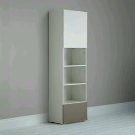 New! John Lewis Match 2 Door Tall Single Shelf Unit, White