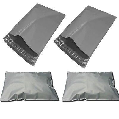 50 x GREY MAILING POSTAGE BAGS 9x12