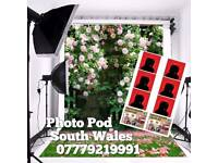 Photo Pod & Led Backdrop from £150 no Prints. With Unlimited prints £250 3 hours hire.