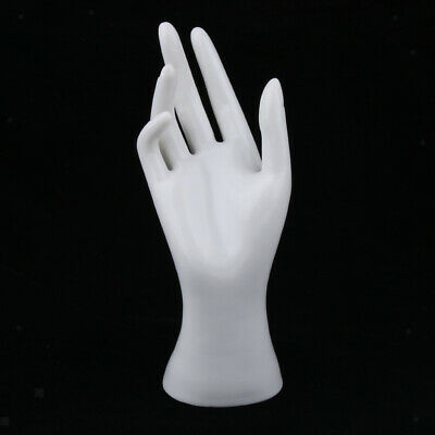 Female Mannequin Hand Jewelry Bracelet Ring Watch Display Stand Holder White