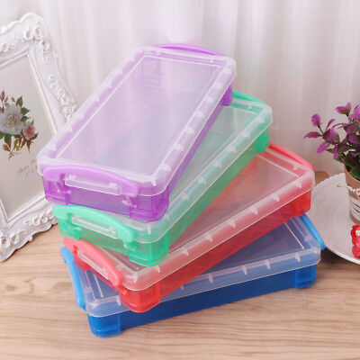 Handle Clear Lid (Brush Painting Storage Box Sketch Pencil Container With Clear Lid Two Handle New )