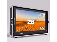 "Lilliput 4K - 28"" broadcast monitor with HDMI and SDI connectivity"