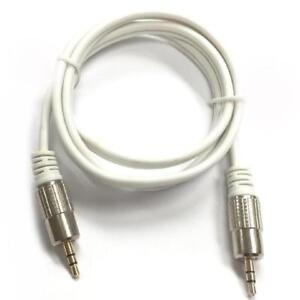 3 ft. Shielded Heavy Duty 3.5mm Stereo Cable - Male/Male - Platinum Series - White