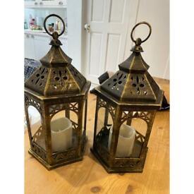 Moroccan style lanterns x2