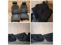 BMW 3 Series E90 Black Cloth Interior / Seat and Door cards