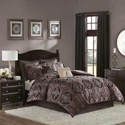 Madison Park Ingrid 8 Piece Chenille Jacquard Comforter -