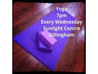 Yoga - Sunlight Centre, Gillingham. 7pm every Wednesday - £7