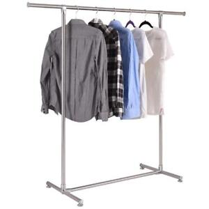 Heavy Duty Stainless Steel Garment Rack Clothes Hanging Drying Display Rail - BRAND NEW - FREE SHIPPING