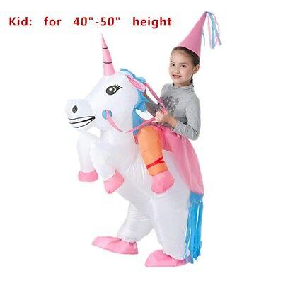 Kids' Unicorn Costume Inflatable Suit Halloween Cosplay Fantasy Costumes (Unicorn Suit)