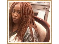 Mobile hairdresser providing weaves, crochet, twists, box braids, and all types of cornrow services