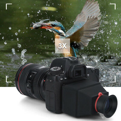 """3.2"""" LCD Viewfinder Magnifier for Canon Nikon Sony Camera 3X Magnification"""