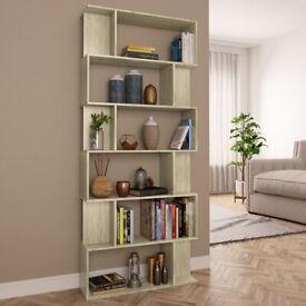 Book Cabinet/Room Divider Sonoma Oak 80x24x192 cm Chipboard-800093
