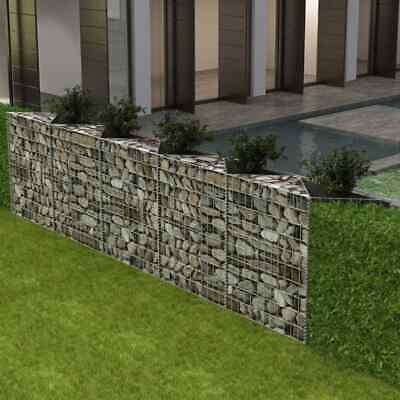 Gabion Planter Raised Vegetable Bed Steel Wall Fencing Barrier 300X30X100cm K3F4