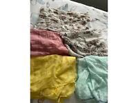 Bundle of 5 ladies lightweight scarves