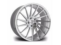 "x4 20"" Riviera RV199 Alloy Wheels Bmw 3 4 5 6 Series M Sport Silver Brushed"