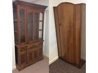 FREE pine cabinet unit and wardrobe