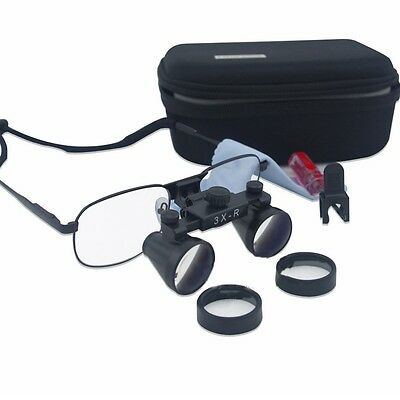 3.0x Dental Binocular Magnifier Medical Surgical Loupes Glasses Metal Frame 90mm