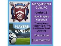 Mangotsfield United JFC - U13 Players Wanted