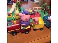 Peppa Pig swing park, 7 characters and train. NOW SOLD