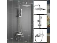 Twin Head Square Design Thermostatic Shower Mixer Brand New Boxed