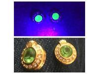 Vintage Swarovski uranium glass clip on earring
