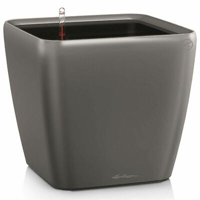 LECHUZA Planter Quadro 28 LS ALL-IN-ONE Charcoal Plant Pot Raised Bed 16143
