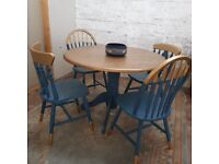 Stylish Set of Table and Chairs Upcycled
