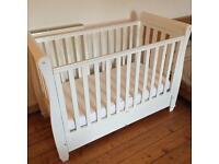 Babymore Eva Sleigh Cot Bed Dropside