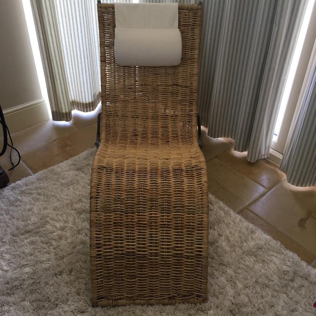 ikea wicker chaise lounge chair in morpeth northumberland gumtree. Black Bedroom Furniture Sets. Home Design Ideas
