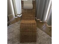 Ikea wicker chaise lounge chair