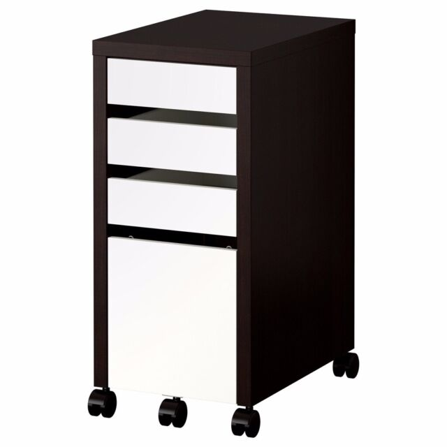 sports shoes d1ca4 90b1f IKEA MICKE Drawer unit with drop-file storage, black-brown / white, filing  cabinet   in Norwich, Norfolk   Gumtree